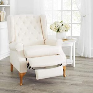 BrylaneHome Oversized Queen Anne Style Tufted Wingback Recliner Chair