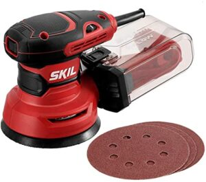 "SKIL 5"" Random Orbital Sander with Cyclonic Dust Box & 3pc Sanding Sheet"