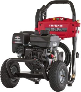 CRAFTSMAN 3400 MAX PSI Gas Pressure Washer with Adjustable Pressure Pump