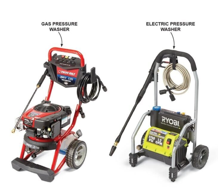 gas pressure vs electric pressure washer
